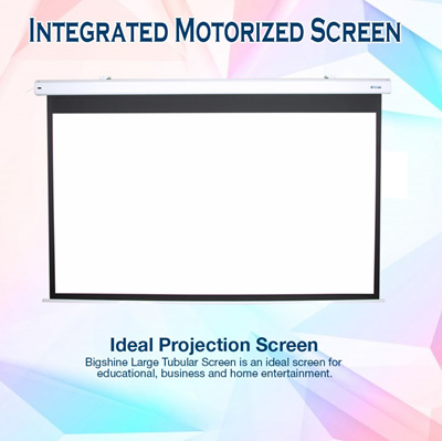Qoo10 integrated motorized tv entertainment for 100 inch motorized projector screen