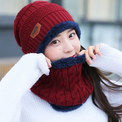 88450ce62bb71 BINGYUANHAOXUAN 2017 Men Warm Hats Cap Scarf Winter Wool Hat Knitting for Men  Caps Lady Beanie
