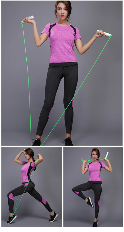 e69e56a9f2 BINTUOSHI Women Yoga Set Gym Fitness Clothes Tennis Shirt+Pants Running  Tight Jogging Workout Yoga