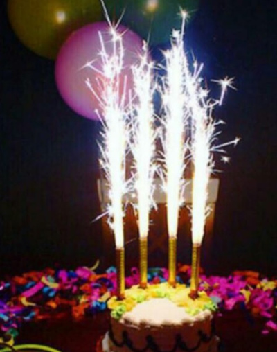 Birthday Fireworks Sparkling Sparkler Candles Promotion 2 Packs Toppers CHEAPEST Rates