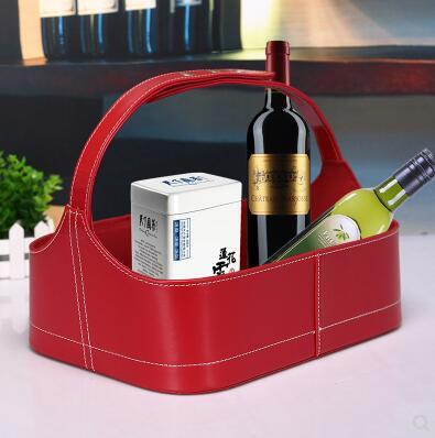 Birthday Gifts Baskets Hotel Gift Festive Food Leather Fruit