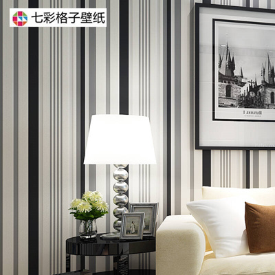 Black And White Stripes Wallpaper Colorful Plaid Non Woven Bedroom Living Room Tv Backdrop