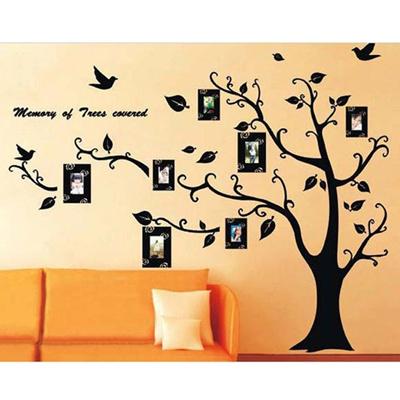 Qoo10 - Black Family Photo Frame Tree Wall Sticker Wall Decal ...