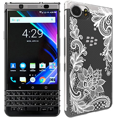 dca672cd72d Qoo10 - BlackBerry KEYone Case, SWODERS Flower Clear Design Shock Absorbing  TP... : Mobile Accessori.