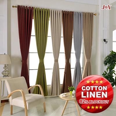 qoo10 cotton linen curtain furniture \u0026 deco