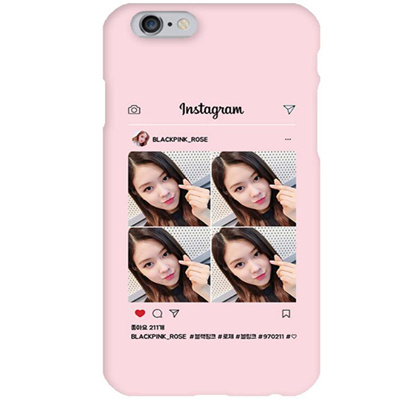 san francisco 3b39f 6196f BLACKPINK ROSE 1 Instagram Pink Hard Matte Phone Case Apple iphone X XS XR  8765 Samsung Galaxy S9