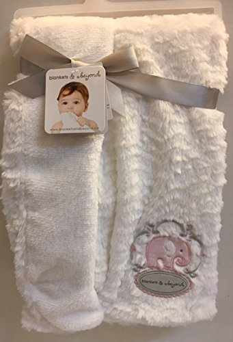 Qoo10 Blankets And Beyond Blankets Beyond White Blanket With Pink