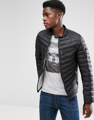 06675749bbe34 Qoo10 - Blend Quilted Jacket   Men s Apparel