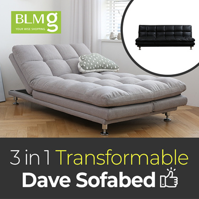 Qoo10 Dave Sofa 1910mm Stitch Leather Couch Fabric Bed