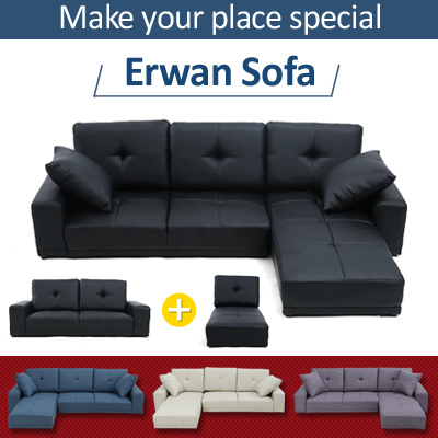 Erwan Low Sofa☆transforming☆Stool☆Couch☆Bed☆Furniture☆Living Room