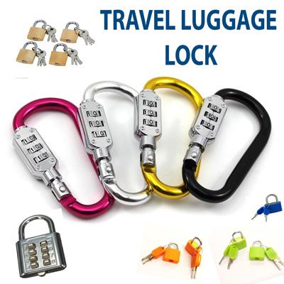 8247b85d419f Blogger 3 Dial Combination Lock Travel Code Locks Resettable Combination  Padlock Key Chain Mountaineering Key Buckles Mini Password Locker for  Luggage ...