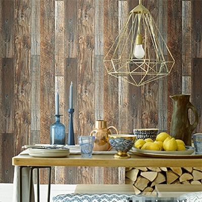Blooming Wall Blooming Wall Vintage Faux Wood Wallpaper Rolls Brown Barnwood Wallpaper Murals H