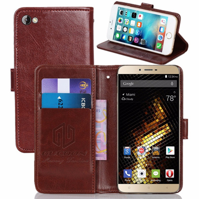 new product b9ff2 5ba35 BLU Vivo 5 5.5inch PU Leather Retro Flip Cover Magnetic Cases Kickstand  Strap Vintage Wallet Case