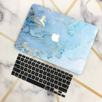 Blue Marble Pattern Cover Case For Apple Macbook Air Retina Pro