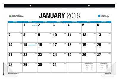 Qoo10 Blue Sky Monthly Desk Pad Calendar Large Print Classic