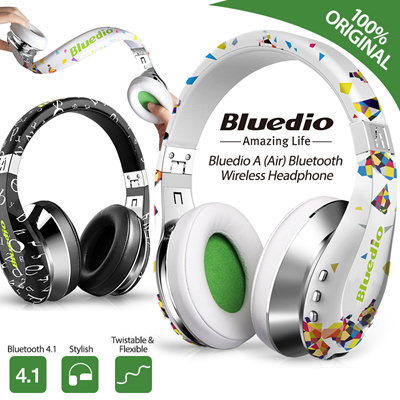 7fb6428b190 Bluedio Air A Wireless Bluetooth Headphone Headset Earpiece Over the Ear  Music 3D Stereo Fashion Style