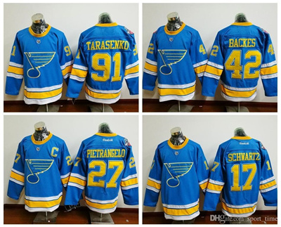 the best attitude 75bdd 9f381 Blues #91 Tarasenko Royal Blue Winter Classic 2017 New Premier Hockey  Jersey Name and Number Sewn On