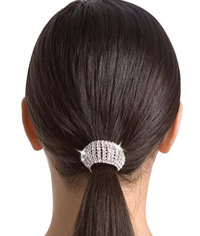Qoo10 - Body Wrappers Flexible Rhinestone Ponytail Holder -CLEAR-1SIZ    Hair Care 975075bbab5