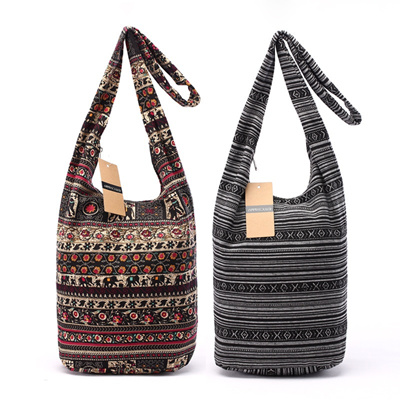 Qoo10 - Bohemian Hobo Bag Women Cotton Bag Large Capacity Shoulder Bag  Hippie ...   Men s Bags   Sho. 6a1ee8c384cfb