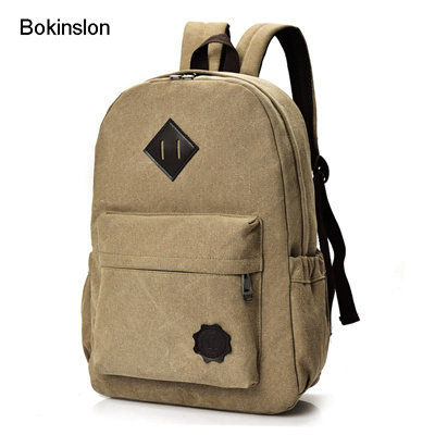 14c22a6d659a ... Bokinslon Men Backpack Bag Fashion Casual Backpack Bags For Man Canvas College  Wind Male School Back ...
