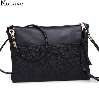 27b9251801e8 Bolsa Feminina New Women Elegant Fashion Girls Pu Leather Messenger Solid  Simple Shoulder Bag