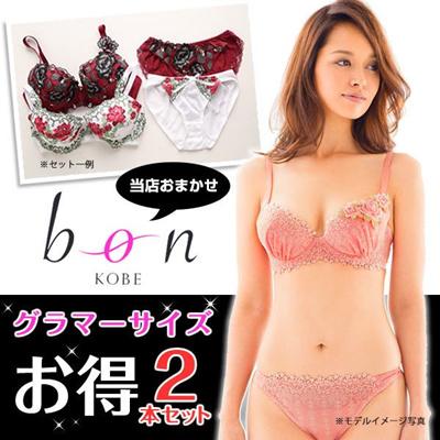 7e626446cdc Qoo10 -  bon  Plus Size Two Bra   Panties Sets Bargain(35FUKUG2N)    Underwear   Socks
