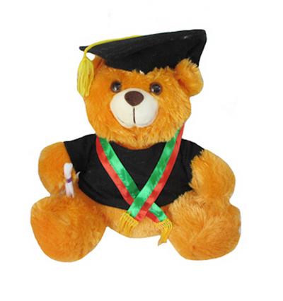 Boneka Teddy Bear (Beruang) Wisuda Two-Toned Slayer Orange 70a6c283da