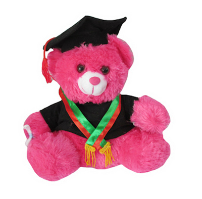 Boneka Teddy Bear (Beruang) Wisuda Two-Toned Slayer Pink Tua aae6cde479