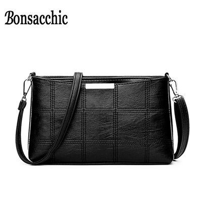 9cd7b87b85bb Qoo10 - Bonsacchic Small PU Leather Bags Women Shoulder Bag Female Crossbody  B...   Bag   Wallet