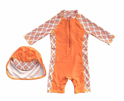 Sun Protection BONVERANO Baby//Toddler Girl One Piece Swimsuit with UPF 50