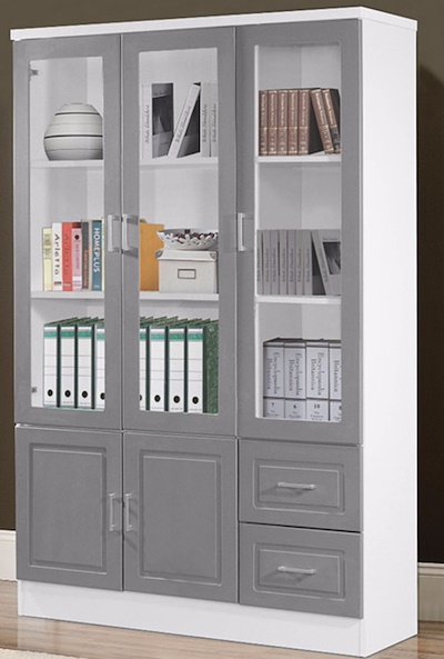 Beau Book Shelf / Book Cabinet/ Storage Cabinet With Glass Door