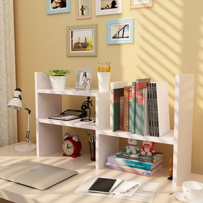 Bookshelf Creative Portfolio Bookshelves Desktop Shelf Wooden Storage Simple She