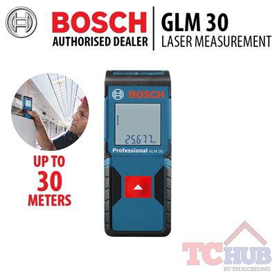 qoo10 bosch glm 30 laser measurement most compact blue. Black Bedroom Furniture Sets. Home Design Ideas