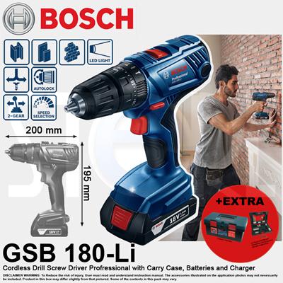 de76507f04b3 BoschBosch GSB 180-Li Professional 18V Cordless Impact Drill Driver