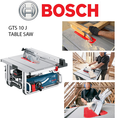 BoschBosch GTS 10J Compact and Powerful Table Saw  Powerful 1800W motor  with soft start optimal for transport due to compact design  Complete  on-tool