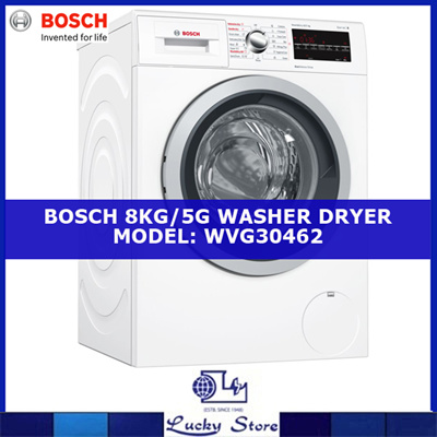 bosch washer dryer. BOSCH WASHER/DRYER * 8KG/5KG CAPACITY SERIE 6 WVG30462SG LOCAL Bosch Washer Dryer