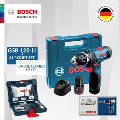 Qoo10 Combo Deal Bosch Gsb 120 Li 41 Combination Bit Set