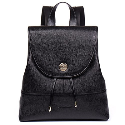 dc043a1e3f9 BOSTANTEN Genuine Leather Backpack Purse Fashion School Bags for Women