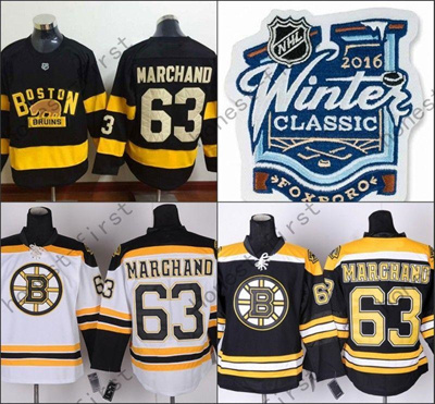 size 40 efe7b eea01 Boston Bruins 2016 Winter Classic Jersey #63 Brad Marchand Black All  Stitched New Style Jerseys Chea