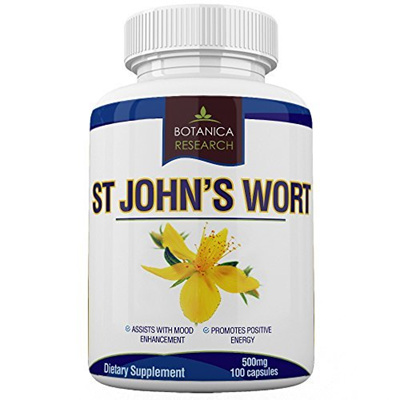 Botanica Research St Johns Wort Extract Supplement: 500mg Vitamin Herb For  Mood, Serotonin, Dopamine