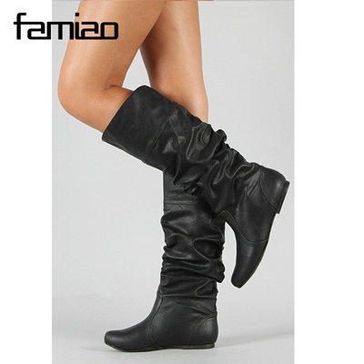 usa cheap sale utterly stylish size 40 botas femininas de inverno 2018 chaussures femme boots height increasing  botas mujer black shoes