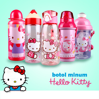 Botol Minum & Infused Water Terbaik Lazada co id Source · bottled drinking straws tumbler transparent glass bottle Hello Kitty