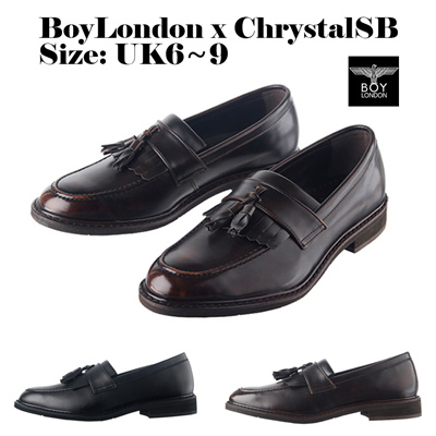 4b902fc059e  ChrystalSB  Boy London Korea Made Mens Tassel Loafers Party Wedding Shoes