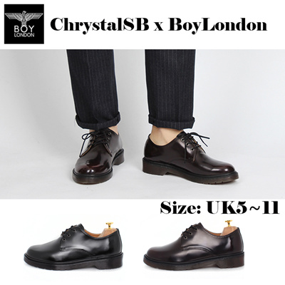 3263fc3cadf  ChrystalSB  BoyLondon Korea Made Mens Derby Loafers Military Boots Party  Shoes