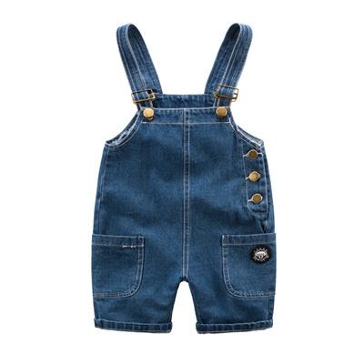 00038bcc4a Qoo10 - Boys   denim overalls children new clothes 201,600 take summer  cot...   Kids Fashion