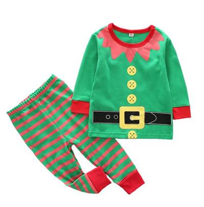 878e3fc5a8ae Qoo10 - Boys Christmas Pajamas Kids Santa Claus Elf Costume Pyjamas ...