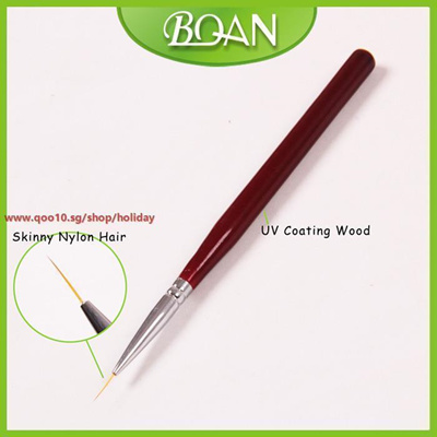 Qoo10 Bqan Wood Handle Skinny Bristle Salon Using Nail Art Striper