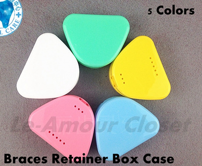 Braces Retainers Invisalign Dentures Storage Box Case/ New Item / Hygienic  / Protect