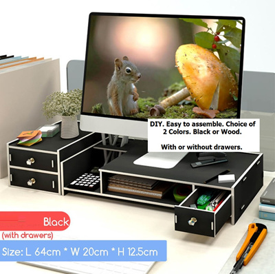 Brand New Diy Computer Monitor Stand Desktop Organizer 2 Colors 2 Types Sg Stock And Warranty