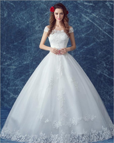 Qoo10 - Brand ZXG Noble Lace Floor Length Wedding Dresses Classic ...